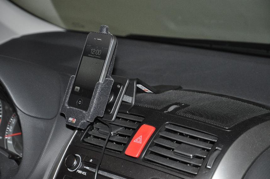Autohalterung mit Apple iPhone 4
