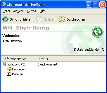 Active Sync Status